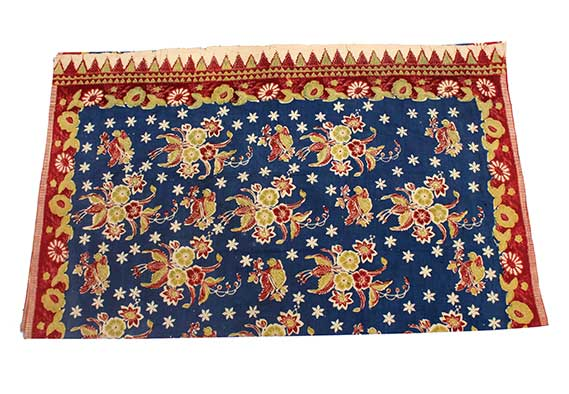 Patola India Cloth from Gujarat with Flower Patterns