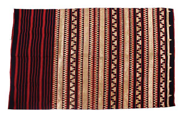 "A ""Tapis"" Woven Traditional Cloth from Lampung with Golden Embroidery"